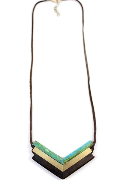 Teocalli Chevron Necklace