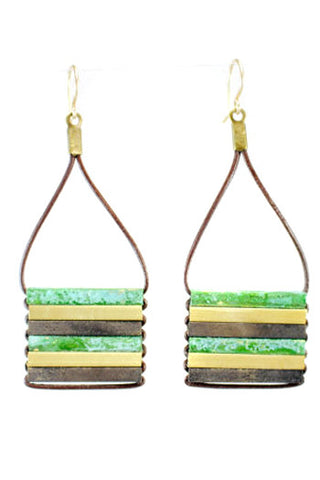 Teocalli Square Earrings
