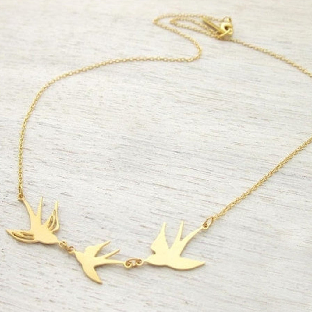 Bird Trio Necklace
