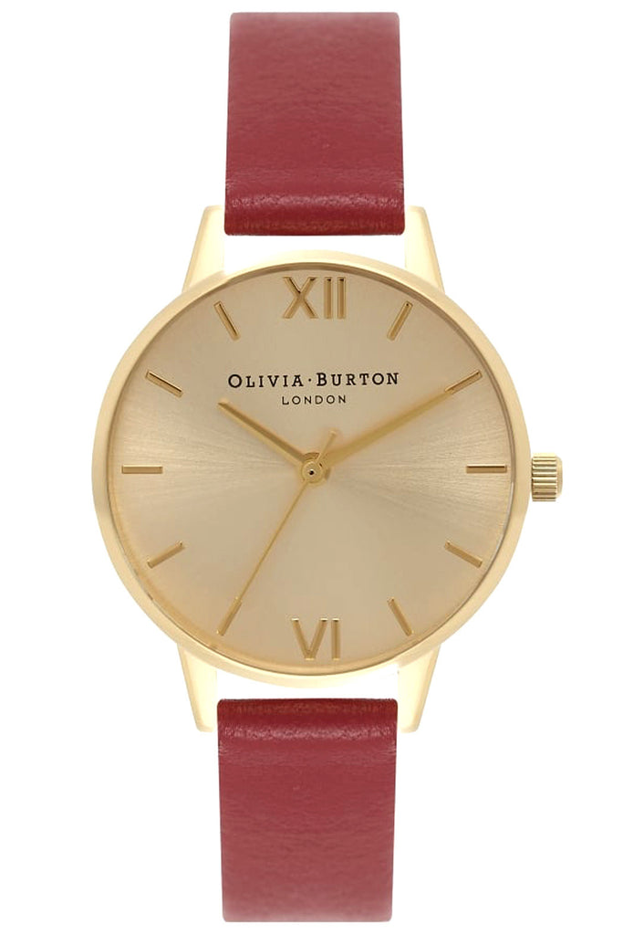 Midi Dial Red and Gold Olivia Burton OB15MD63