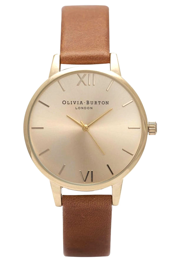 Midi Dial Tan and Gold Olivia Burton Watch OB14MD22