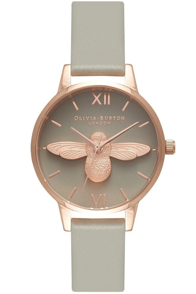 Midi Moulded Bee Gray Dial and Rose Gold