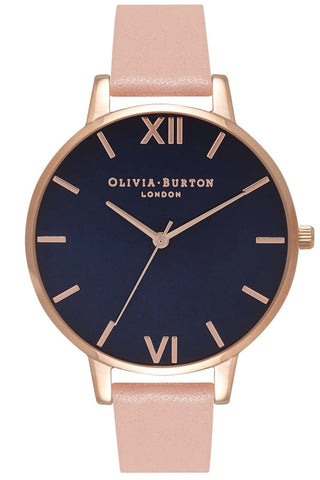 Midnight Dial Dusty Pink and Rose Gold Watch OB16BD96 Olivia Burton