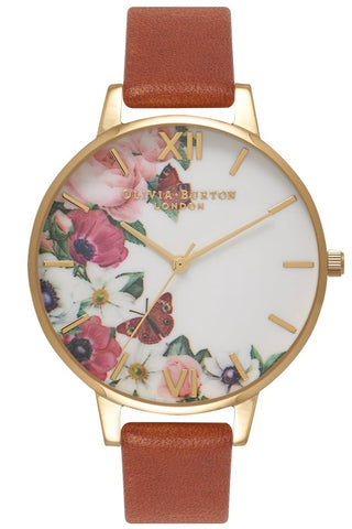 English Garden Tan and Gold Watch