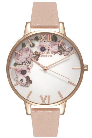 Signature Floral Dusty Pink and Rose Gold Watch