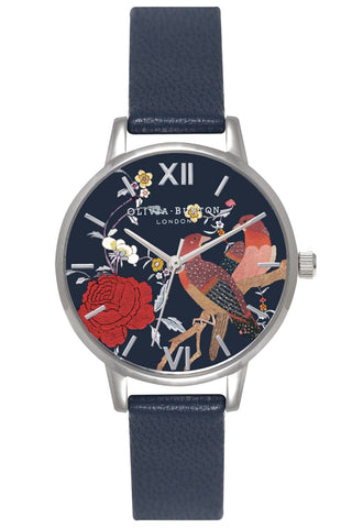 Midi Dial Oriental Opulence Navy and Silver OB15MG03