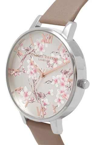 Parlour Blossom Birds Iced Coffee, Silver and Rose Gold