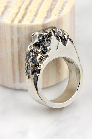 Silver Rock Ring