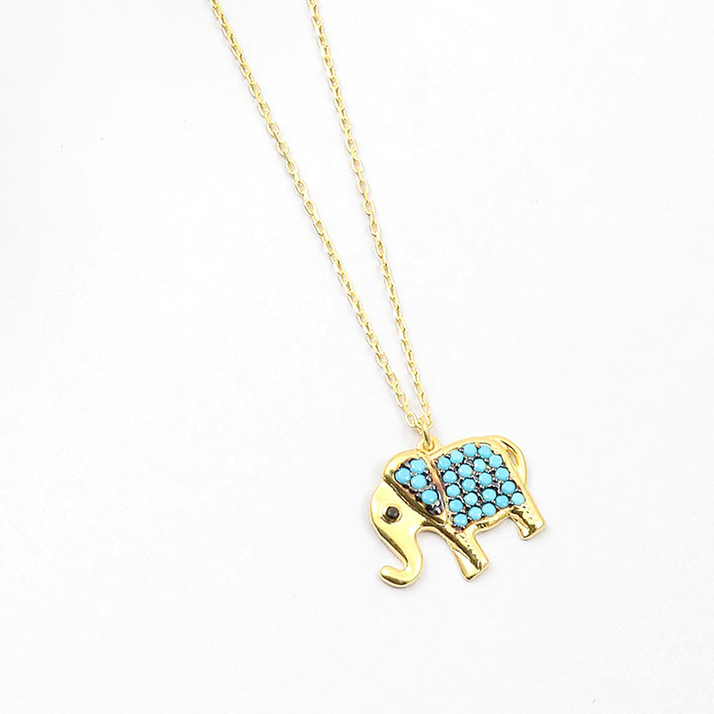 Gold Plated Elephant Necklace