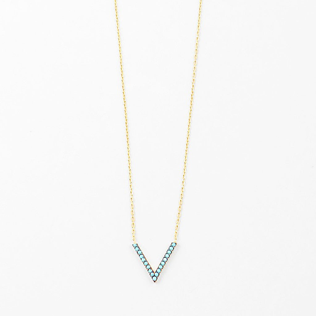 Gold Plated Mini V Necklace
