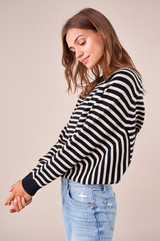 Walden Stripped Poncho Sweater