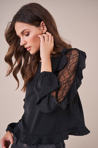 West Elm Lace Blouse