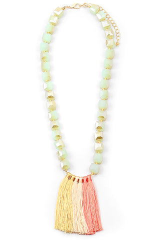 Tassels and Beads Necklave