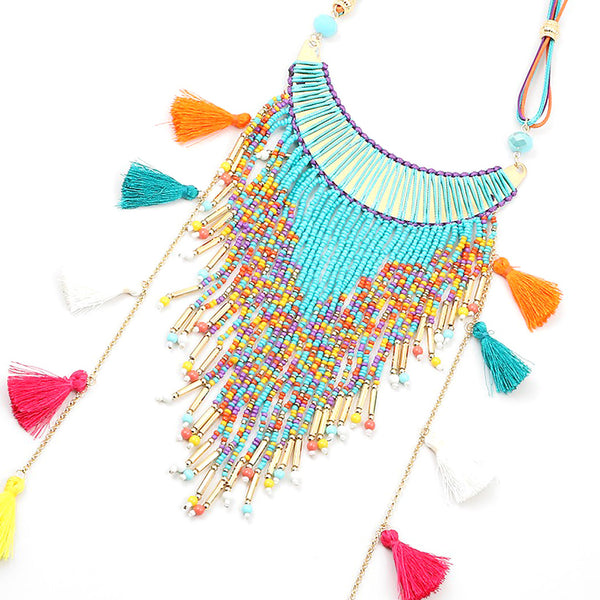 Tassel Color Blast Necklace