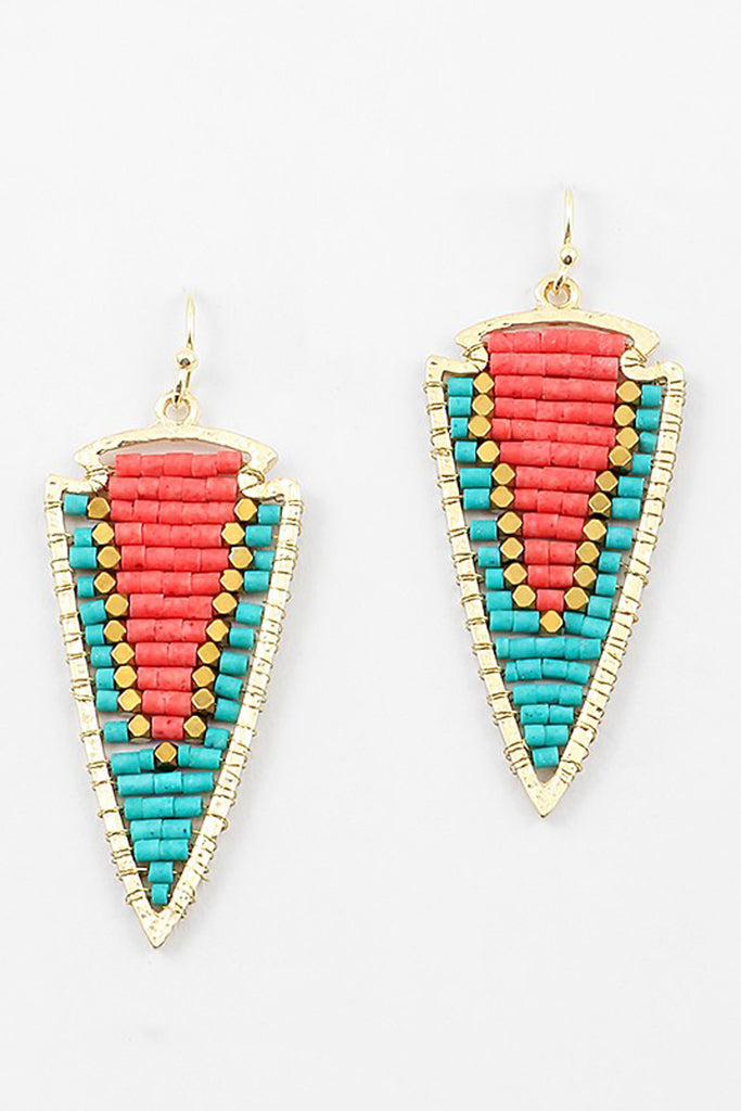Bead Arrow Earrings