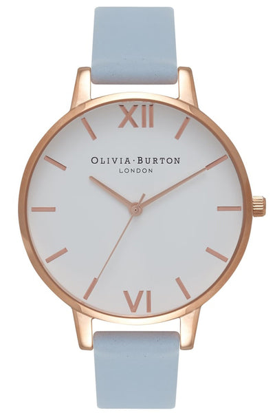 Big Dial, White Dial, Chalk Blue and Rose Gold OB16BDW18 Olivia Burton