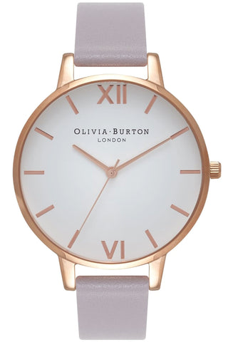 Big Dial, White Dial, Gray Lilac and Rose Gold OB16BDW16 Olivia Burton