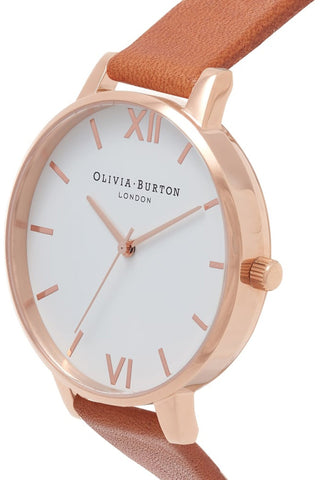 Big Dial, White Dial, Tan and Rose Gold OB16BDW19 Olivia Burton