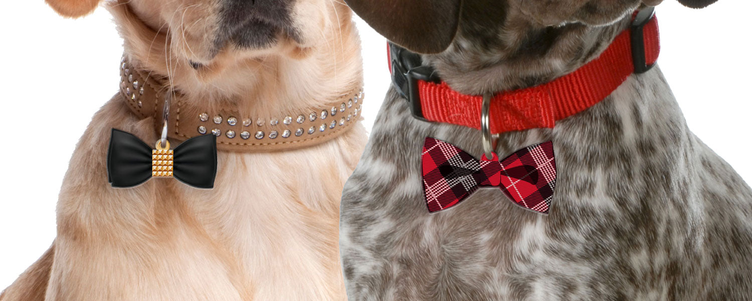 Bow Tie Pet ID Tags