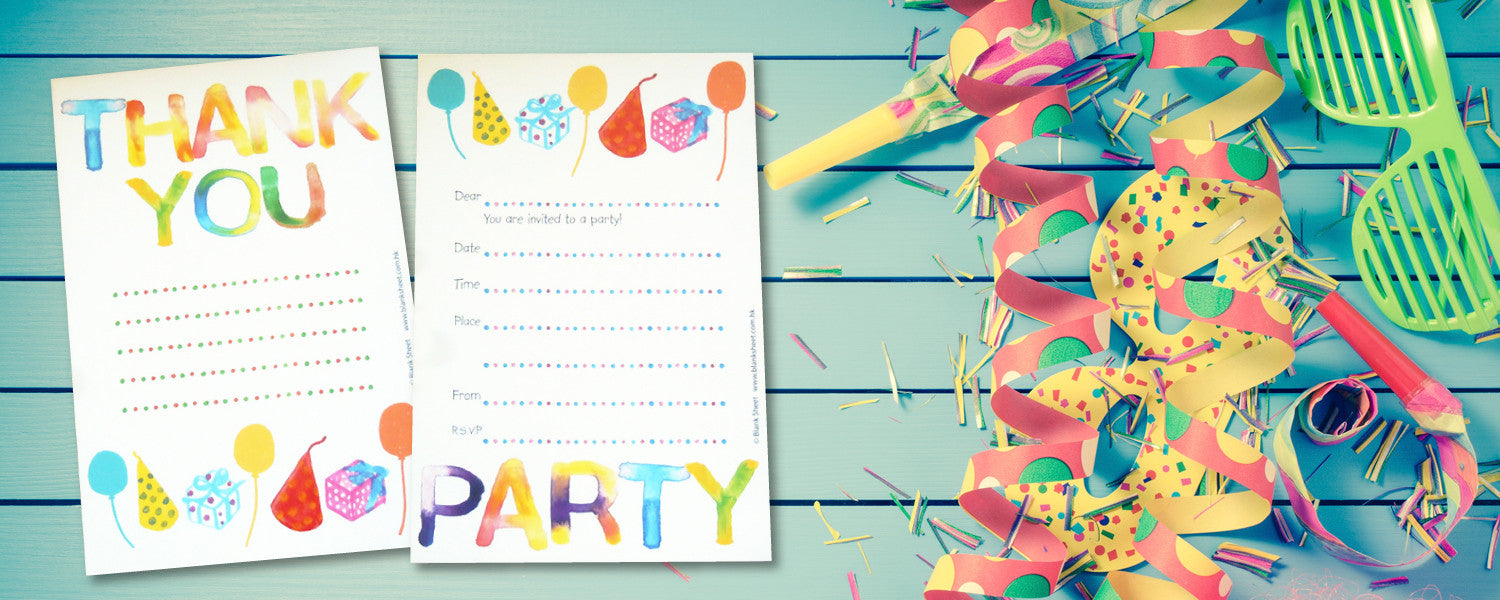 Kiddy Collection™ Party Stationery