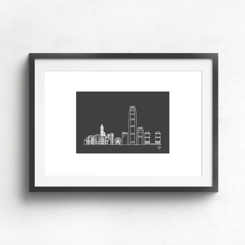 Hong Kong Skyline (negative)