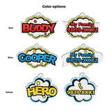 Speech Bubble | Personalized Pet ID Tags for Dogs & Cats by Blank Sheet