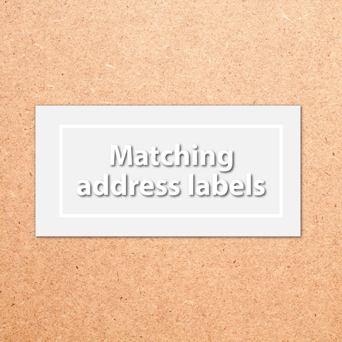 Matching address labels