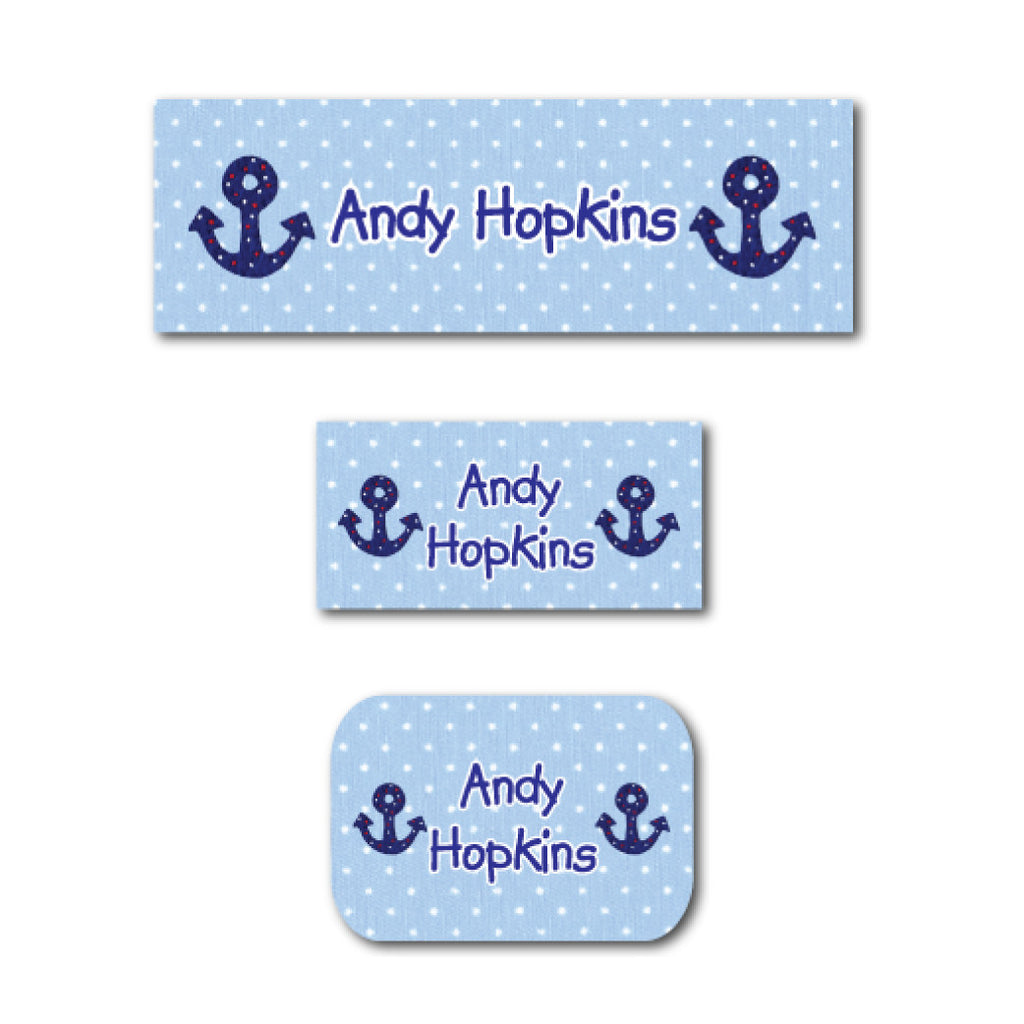 Blue anchors name labels