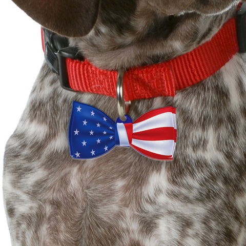 US Patriot | Personalized Pet ID Tags for Dogs & Cats by Blank Sheet