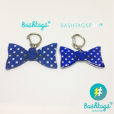 Butterfly Polka Dots Bow Tie | Personalized Pet ID Tags for Dogs & Cats by Blank Sheet