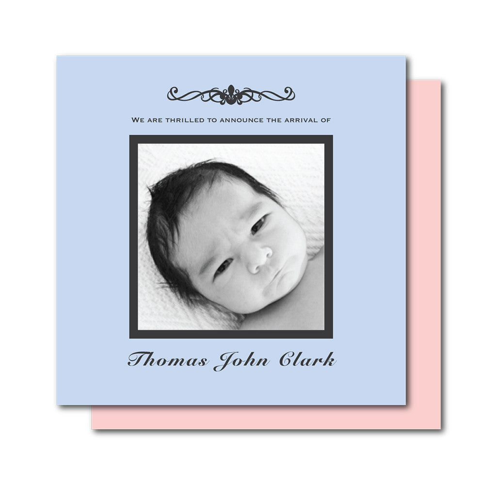 Classic Symbol Birth Announcements
