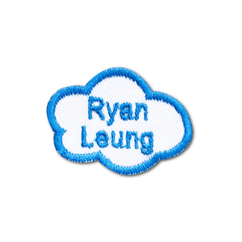 Embroidered name patch cloud