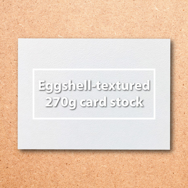 270g eggshell-textured card stock