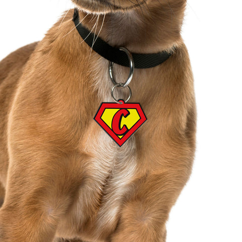 Superhero Emblem | Personalized Pet ID Tags for Dogs & Cats by Blank Sheet