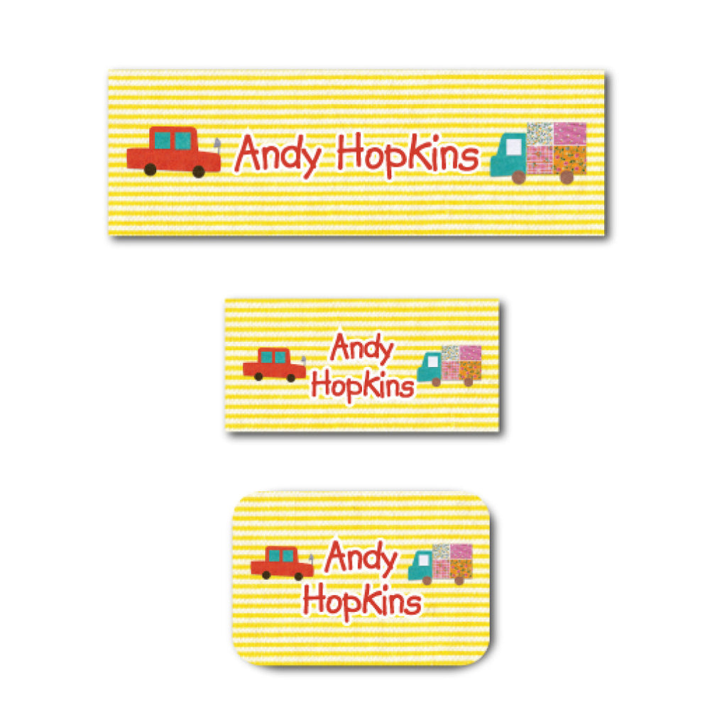 Car and truck name labels