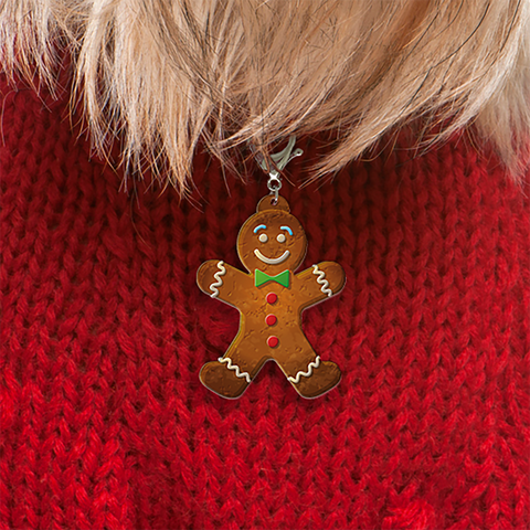 Gingerbread Man Bashtags®  | Personalized Pet ID Tags for Dogs & Cats by Blank Sheet