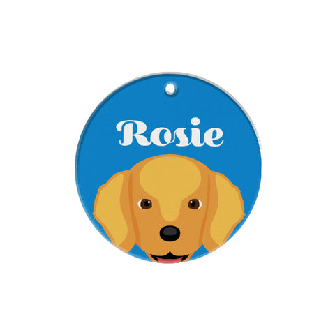 Golden Retriever | Personalized Dog Tags by Blank Sheet