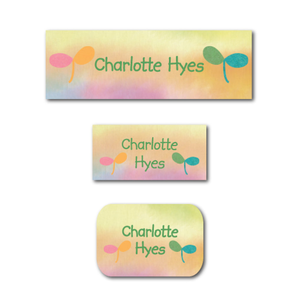 Watercolor name labels