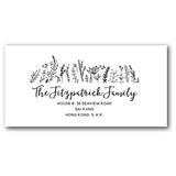 Black & white address labels