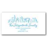 Blue address labels