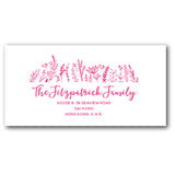 Pink address labels