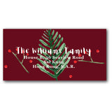 Red address labels