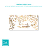 Golden Leaves | Address Labels | Holiday Cards by Blank Sheet