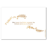 Golden Leaves | Holiday Cards by Blank Sheet