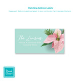 In Love with Poinsettias | Address Labels | Holiday Cards by Blank Sheet