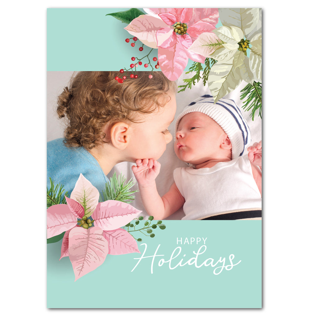 In Love with Poinsettias | Holiday Cards by Blank Sheet