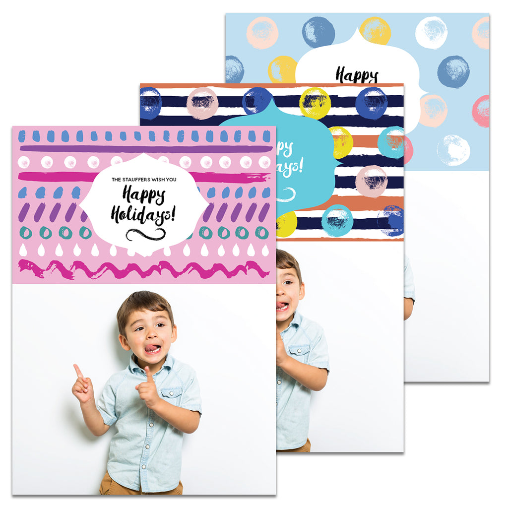 Vibrant Stripes & Dots | Holiday Cards and Christmas Cards by Blank Sheet