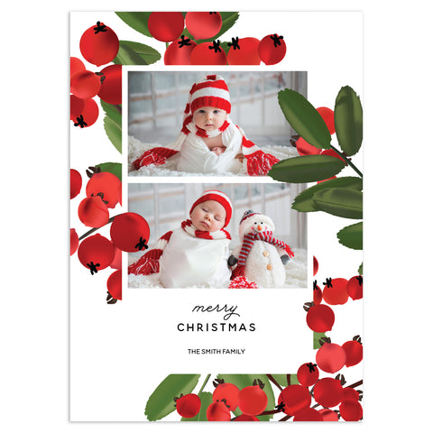 Ash Berry Love | Holiday Cards and Christmas Cards by Blank Sheet