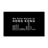 Hong Kong Skyline Black
