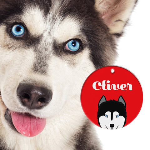 Siberian Husky | Best In Breed Bashtags® | Personalized Dog Tags by Blank Sheet